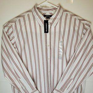 New Claiborne Striped Oxford Shirt